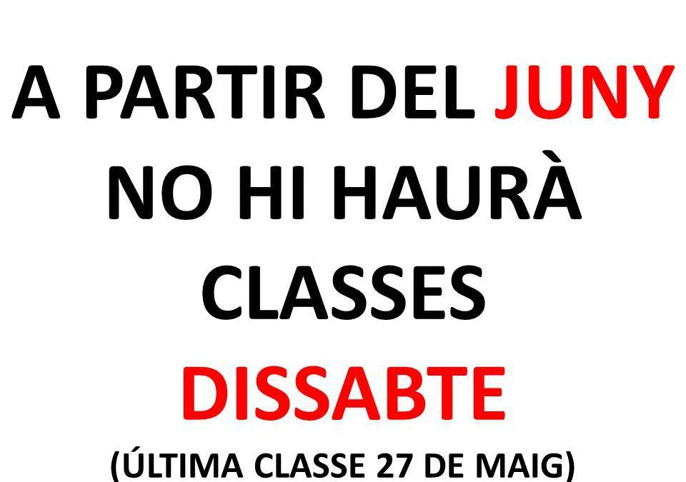 CLASSES DISSABTE